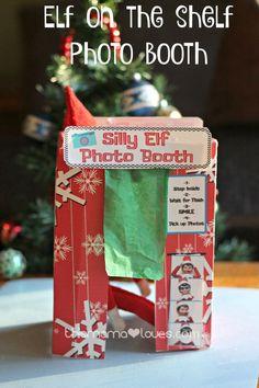 Elf on the Shelf Photo Booth- Printable Elf fun! ElfontheShelf Popinkins ElfMagic