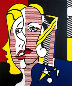 Female Head, 1977 - Roy Lichtenstein - Oil and Magna on canvas, 60 x 50 inches, 152.4 x 127 cm