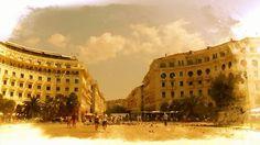 """Σκέψεις: """"στην πλατεία Αριστοτέλους"""" ,Τάσος Ορφανίδης Louvre, Building, Travel, Buildings, Viajes, Traveling, Tourism, Louvre Doors, Outdoor Travel"""