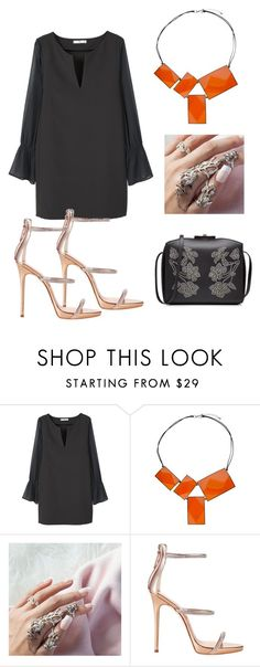 """""""Sem título #2554"""" by mariana-mester-vianna ❤ liked on Polyvore featuring MANGO, One Button, Giuseppe Zanotti and Alexander McQueen"""