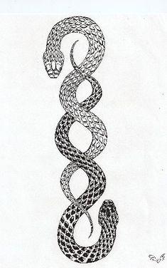 Snake Tattoo Ver. 1 by UsagiTenshi on DeviantArt #tattoosmensforearm