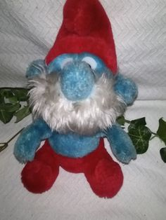 $6.96 or best offer Peyo Papa Smurf Vintage 1981 Plush Stuffed Smurfs Wallace Berrie & Co #Peyo