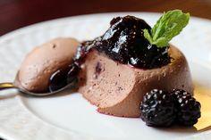 Blackberry Chocolate Panna Cotta / @DJ Foodie / DJFoodie.com