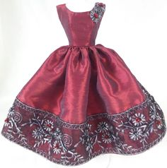 *Ruby* OOAK Vintage Reproduction Dress for Silkstone & Barbie by MPH