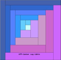 curved log cabin | This is what can result from rotating the blocks. I call this layout ...