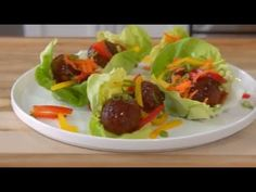 Get a double dose of delicious in 5 easy steps with these Meatball Lettuce Wraps. #FarmRich