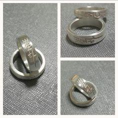 calligraphy silver ring 캘리그라피 은반지 _별하 캘리그라피
