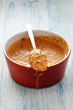 Moroccan spices are blended into this smooth spicy-sweet carrot dip. Try it with pita chips or crudites as part of a mezze platter or as a nutritious condiment for sandwiches. Spicy Recipes, Mexican Food Recipes, Dessert Recipes, Cooking Recipes, Desserts, Healthy Recipes, Pasta Sauce Recipes, Soup Recipes, Chicken Recipes