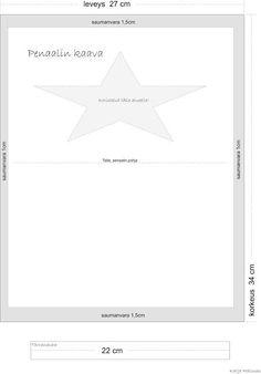 Helppo penaali kolmasluokkalaisten ompelutyöksi. Line Chart, Diagram, Symbols, Letters, Lettering, Letter, Icons, Calligraphy