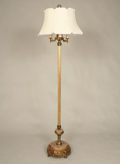 Antique Candelabra Torchiere Floor Lamp With Marble Base Floor Lamp Torchiere Floor Lamp