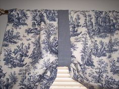 blue toile curtains - Google Search