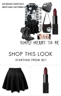 """""""We're Just Simply Meant To Be"""" by musikluver00 on Polyvore featuring NARS Cosmetics, black, emo, goth, nightmarebeforechristmas and nbc"""