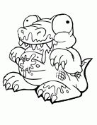 Trash Pack Alley Gator Coloring Page