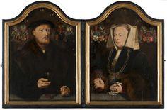 Portrait Diptych of Johann von Rolinxwerth and his Wife, Christine von Sternberg | 1529 | Mauritshuis | Public Domain Marked