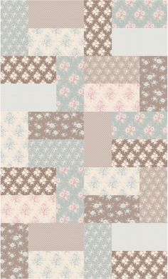 Spring-quilt-3 fabrics available from The Homemakery http://www.thehomemakery.co.uk/fabric/tilda