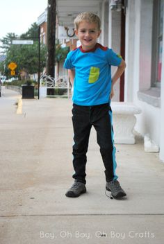 Slim fit pants for boys - Super Skinny pants by Blank Slate Patterns sewn by Boy, Oh Boy, Oh Boy
