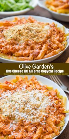Yummy Pasta Recipes, Easy Dinner Recipes, Great Recipes, Vegetarian Recipes, Yummy Easy Dinners, Cooking Recipes, Italian Dishes, Italian Recipes, Five Cheese Ziti