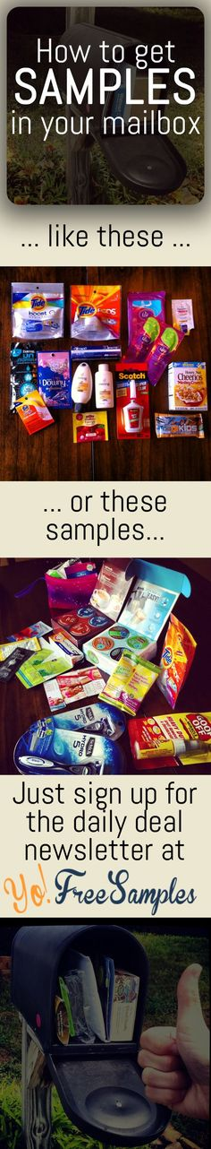 "Get free stuff by mail with daily updates: http://yofreesamples.com/sign-up-for-totally-free-samples-by-mail/?utm_source=pinterest&utm_medium=organic&utm_campaign=yfsn1-desc  This isn't your average ""real"" free samples website. Each freebie has step by step instructions on getting verified received free samples.  John 'Samples' Clark tests every single freebie on the site and verifies what arrives and what didn't. Yo! Free Samples…"