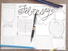 febraury month journal monthly journaling di LaSoffittaDiSte
