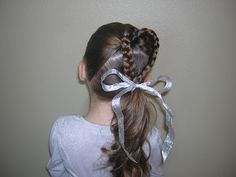 Double Hearts and a Side Pony   Hairstyles For Girls - Princess Hairstyles
