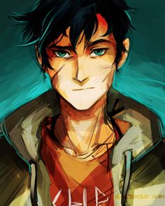 Look, I didn't want to be a half-blood. I figured I wanted to do something like I did with Nico with Percy as well. (and with others but I have no idea how long it would take so for now just Percy).. Bb sorry I didn't draw you happy I can't draw happy things at the moment..also I might as well be planning on drawing serious demigods I dunno.