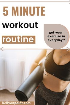 Here is a great little five minute routine to use when you're strapped for time. Easy to do but intense enough to make a difference especially at the start of your day. #quickworkout #easyworkout #fiveminuteworkout #5minuteworkout Best Weight Loss Plan, How To Lose Weight Fast, Workout Schedule, Workout Gear, Fitness Gear, Fitness Tips, Hip Muscles, Good Posture, Easy Workouts