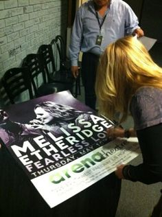 Signing posters for the Arena Theatre in Houston TX. May 10, 2012