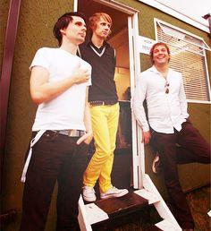 Muse! Matt Bellamy, Dom Howard, Chris Wolstenholme (or however you spell it)