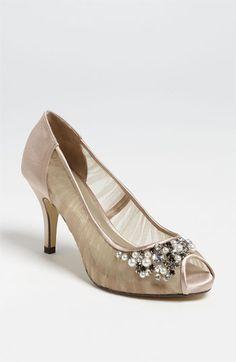 Heidicakes - these are sorta cute, no?  Menbur Peep Toe Pump | Nordstrom