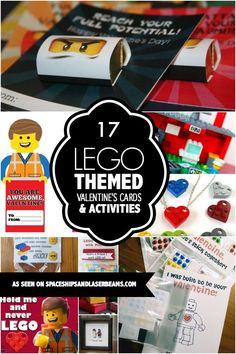 LEGO themed Valentine's cards & activities
