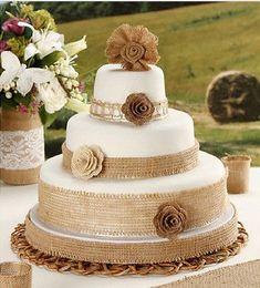 bolo de casamento decorado com juta - Pesquisa Google …