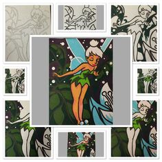 A start to finish colouring in of Tinkerbell from my Disney Colour By Numbers