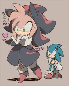 Sonic & Amy as Shadow n.n