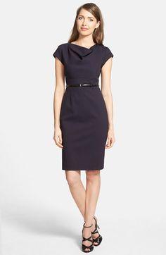 Classiques Entier® 'Sunmosa' Drape Neck Ponte Dress (Regular & Petite) | Nordstrom