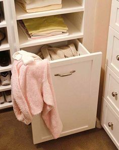 built-in hamper for the closet or in the laundry room