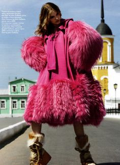 Vogue Russia, September 2007 Photographer: KT Auleta Model: Vlada Roslyakova John Galliano for Christian Dior, Fall 2007 RTW Shoes: Christian Dior, Spring 2002 Couture Vlada Roslyakova, Textiles, Dior Couture, Vogue Russia, John Galliano, Couture Collection, Editorial Fashion, Celebrity Style, Fashion Photography