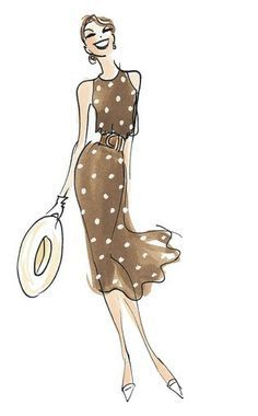 Donna Mehalko: Illustrator, Painter, Artist Like the pretty Woman dress......