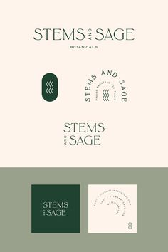 Stems & Sage Brand Kit — Mint Lane Pre-Made Logo Design by Mint Lane Studio. Customize for your business! Corporate Branding, Corporate Design, Business Branding, Logo Branding, Personal Branding, Branding Ideas, Luxury Branding, Candle Branding, Wedding Branding