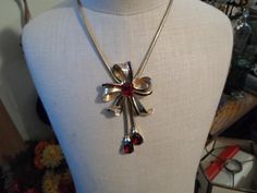 Vintage Mazer Brothers Fushcia Rhinestone necklace. $90.00 Find it at kimskreations17.etsy.com