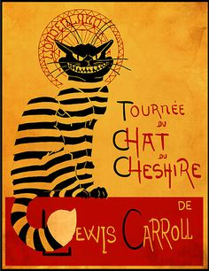 La Tournée du Chat Noir: Chat du Chesire by Harantula Crazy Cat Lady, Crazy Cats, Inspiration Artistique, Black Cat Art, Black Cats, Chesire Cat, Lewis Carroll, Were All Mad Here, Adventures In Wonderland