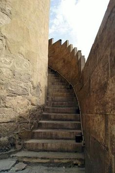 Stairs to the Minaret of Ahamed bin Tolon Mosque - Egypt