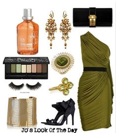 Olive green side shoulder dress! If it has lycra, i'm wearing it. And also, the neroli jasmine perfume from body shop is to die for......................!!!!
