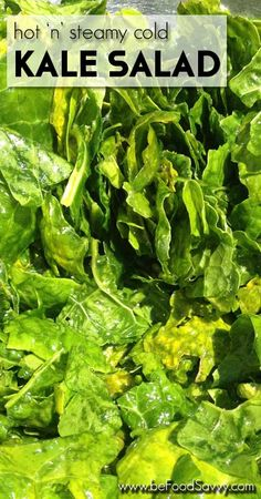 Learn the trick to get non-tough Kale leaves for this yummy salad | www.beFoodSavvy.com
