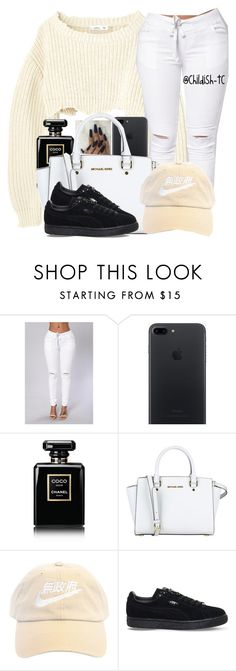 """""""🈚️㊙️🉐"""" by childish-tc ❤ liked on Polyvore featuring Chanel, MICHAEL Michael Kors and Puma"""