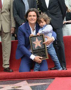 Orlando Bloom com o filho, Flynn (Getty Images)