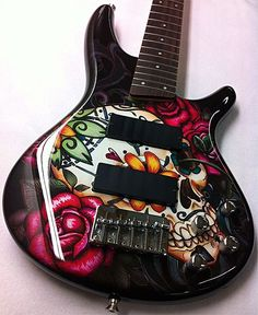 Custom-Painted Guitars | Custom Painted Ibanez SR305DX Bass