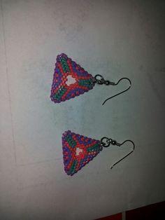 Orecchini triangolo a peyote