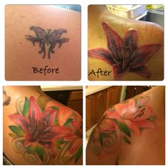 Tattoo flower cover up
