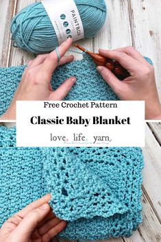 Crochet blanket patterns 7107311900442425 - This baby blanket is super simple and easy, yet so perfect! This free crochet pattern is great for a beginner project! Crochet Baby Blanket Free Pattern, Crochet Square Patterns, Free Crochet, Crochet Bags, Crochet Animals, Crochet For Boys, Newborn Crochet, Baby Afghans, Crochet Afghans