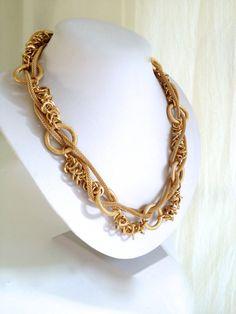 Gold Layered Chain Mixed Gold Chain Torsade by WOWTHATSBEAUTIFUL